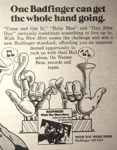 1974 Warner Brothers records album ad pinup poster B2