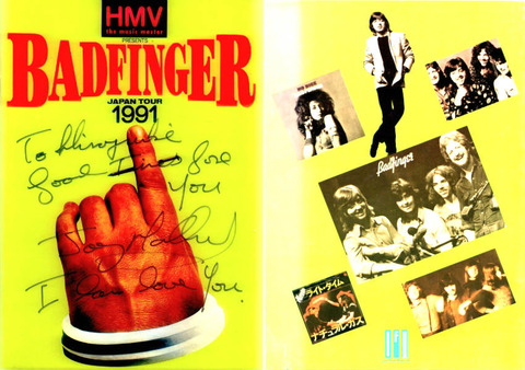Badfinger 1991 Japan tour book Joey Molland