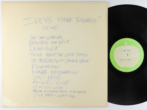 Iveys - Maybe Tomorrow Acetate LP - Apple UK Mono a