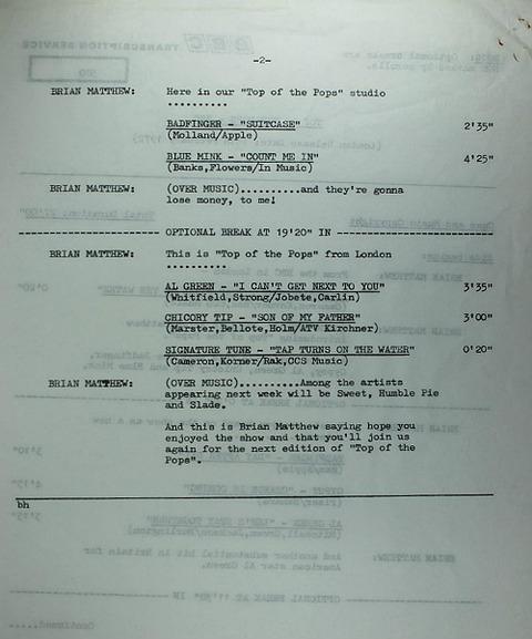 BBC 380 Transcription Disc Top of the Pops 02