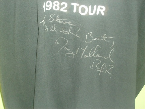 Autographed T-shirt of Joey Molland of Badfinger c