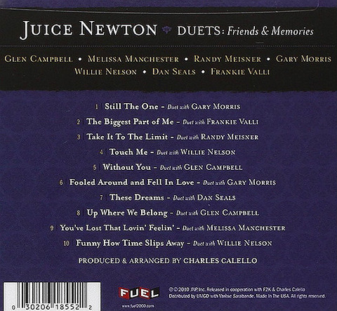 Juice Newton - Duets Friends & Memories 2010 back