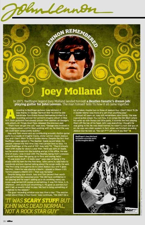 Total Guitar #209 Winter 2010 joey