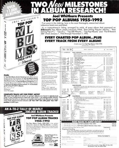 Joel Whitburn - Top Pop Albums 1955-1992 ad Dec1992