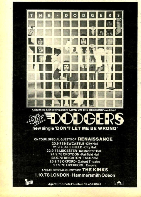 NME September 30, 1978 Dodgers ad
