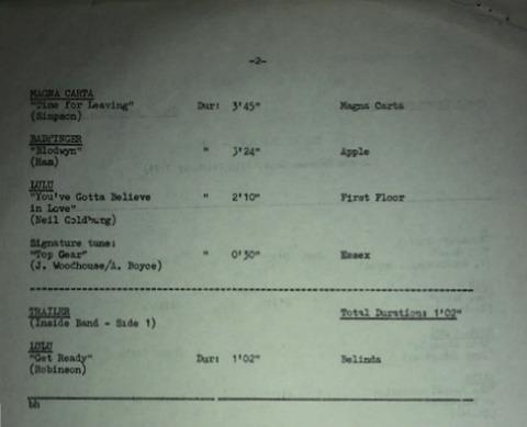 BBC 328 Transcription Disc Top of the Pops 02
