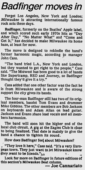 Milwaukee Journal Sentinel July 2 1982