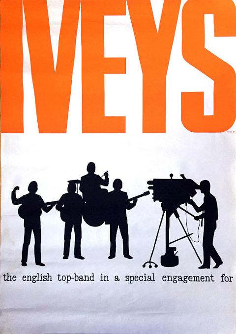 Iveys Swedish original tour poster 1966