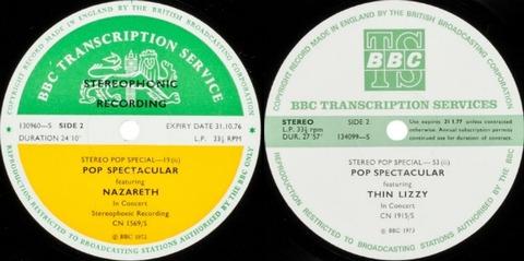 BBCTS Nazareth72 Thin Lizzy73