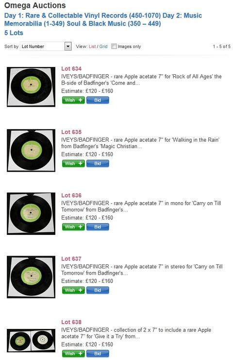 The Iveys Badfinger Omega Auctions