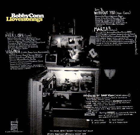 Bobby Conn - Llovessonngs (EP 1999) back