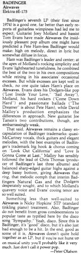 Trouser Press #38 May 1979p36 Airwaves
