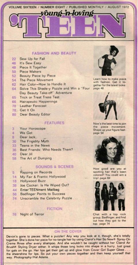 Teen Magazine (August 1972) a