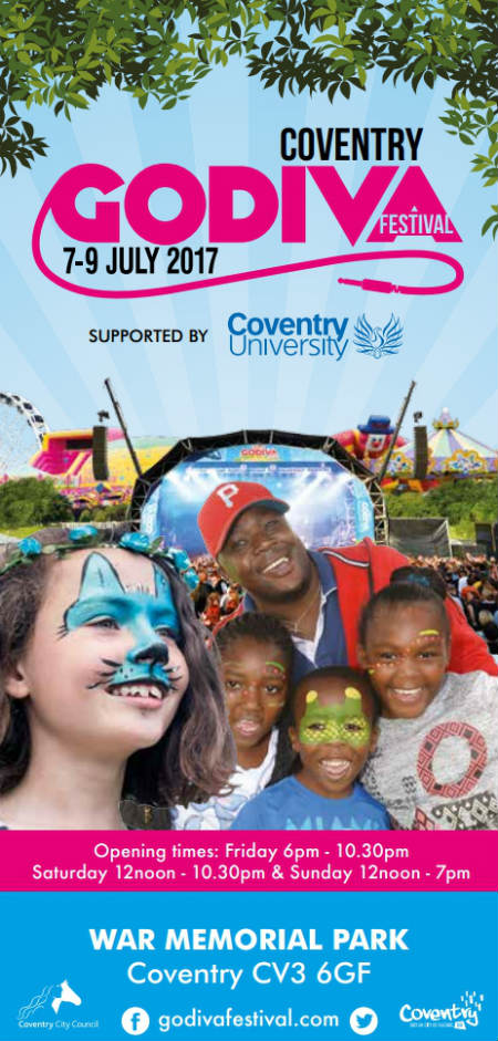 Coventry Godiva Festival July 7-9, 2017