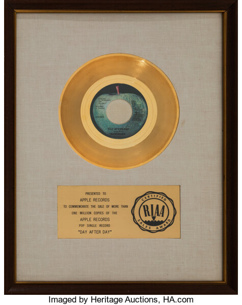 Badfinger Day After Day RIAA Gold Record Auction 7226 Lot 89316