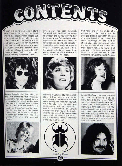 Beetle (September 1974) contents