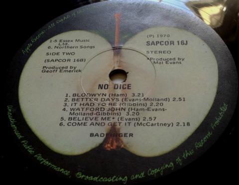Badfinger No Dice SAPCOR-16j South Africa r2