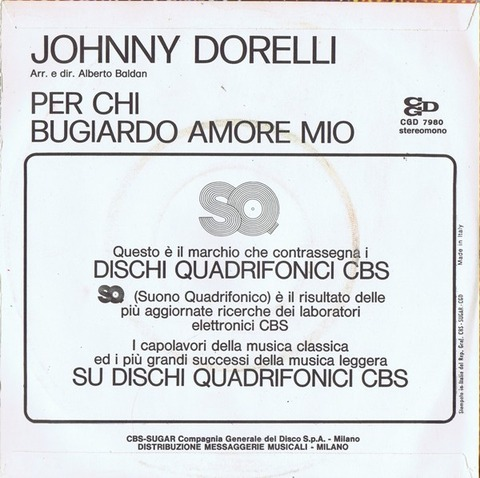 Johnny Dorelli - Per chi back