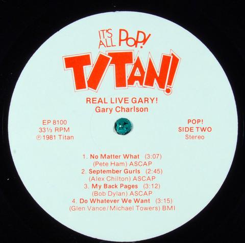 Gary Charlson - Real Live Gary (1981) r2