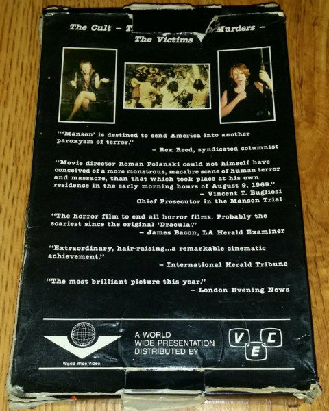 Manson (1973) VHS b