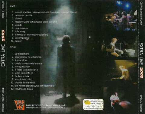 Extra - Live 2003 back