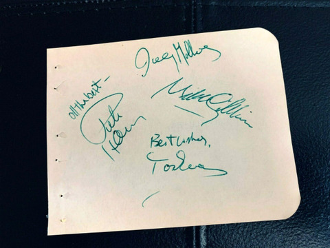 1972 Badfinger signed autographed album book page 2
