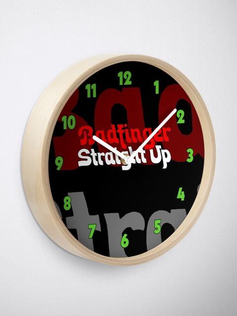 Badfinger Straight Up Clock