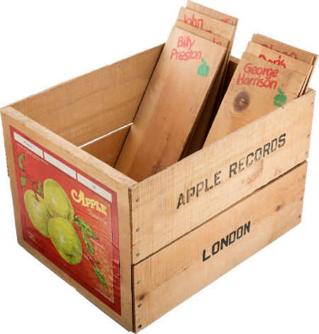 Apple Records Retail Display Crate with Eight Wooden Dividers