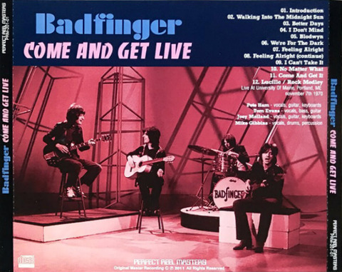 Badfinger - Come and Get Live (PRM-201-01) b