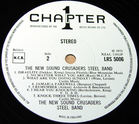 The New Sound Crusaders Steel Band (LP 1971) r2
