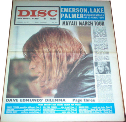 Disc and Music Echo (January 23, 1971) cover