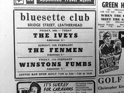 The Iveys - Bluesette Club, Leatherhead (Feb 10, 1967)