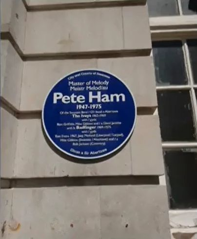 Pete Ham Blue Plaque
