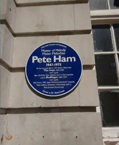 Pete Ham Blue Plaque