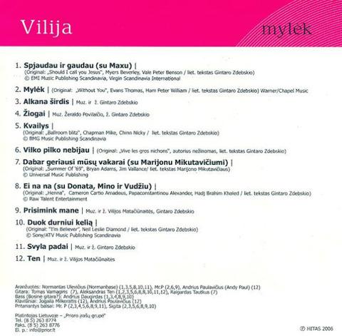 Vilija - Mylėk i (2006)