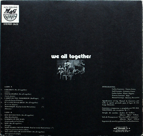 We All Together 2422 LP back 1