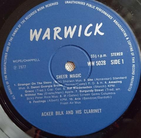 Acker Bilk & his Clarinet - Sheer Magic