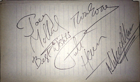 Badfinger hand-signed January 1973 Athens Ohio