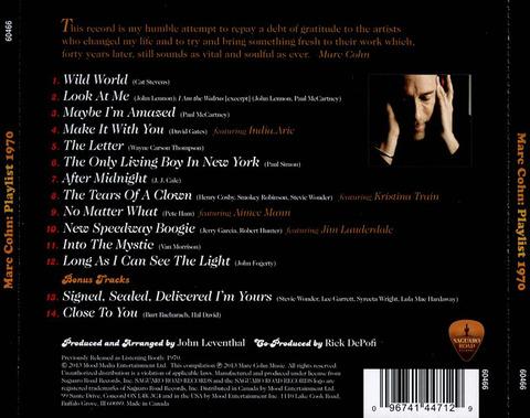 Marc Cohn Playlist 1970 back 2 bonus