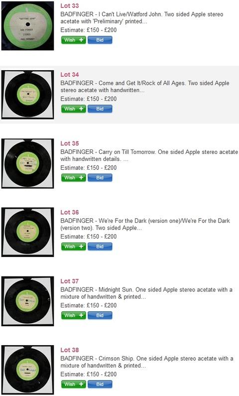 Badfinger Omega Auctions