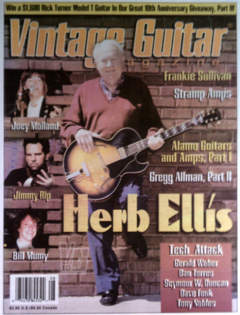 Vintage Guitar Magazine (August 1996) cover