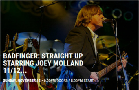 Badfinger Straight up Joey City Winery Atlanta Nov 12, 2017