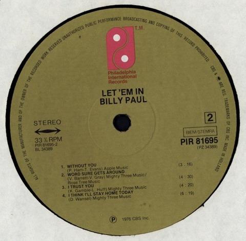 Billy Paul - Let 'em In PIR 81695 r