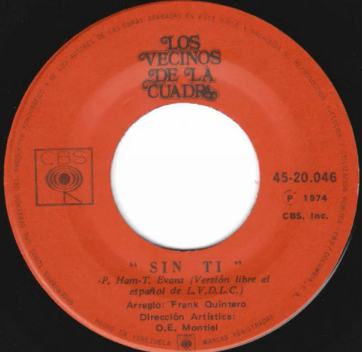 Los Vecinos de la Cuadra - Sin ti (1974) r2