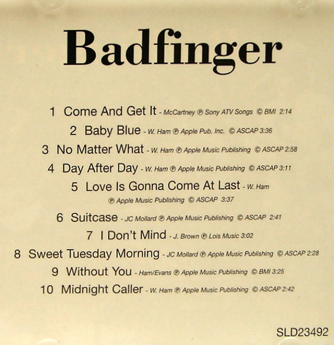bjm CD 1996 Prime Cuts Best of Badfinger 1994 featuring Joey i