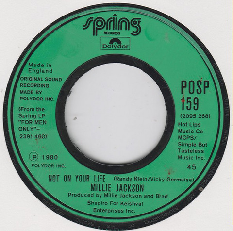 Victoria Germaise 1980 Millie Jackson - Not On Your Life