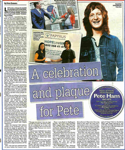 Bob Jackson's tribute to Badfinger's Peter Ham