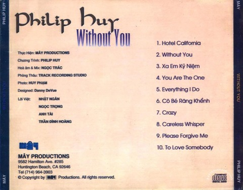 Philip Huy - Without You back