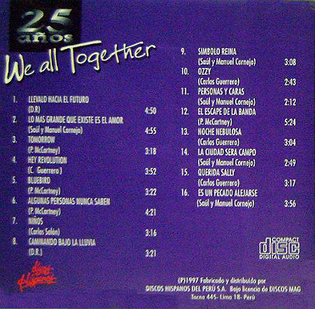 We All Together 25 años back
