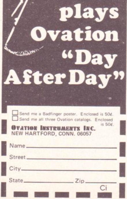 Badfinger Ovation Ad 50c
